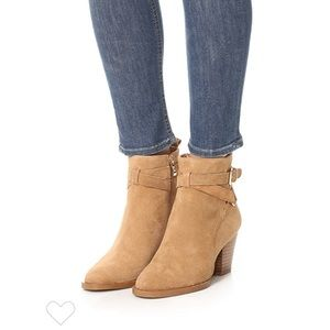 MATIKO AMIE SUEDE ANKLE BOOTS - tan suede